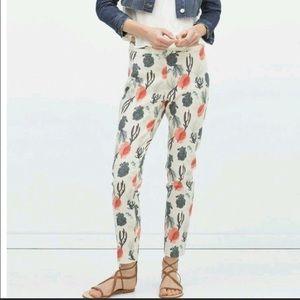 NWOT Zara Ocean Print Woven Trousers Pants